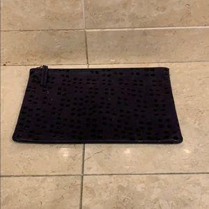 Clare V Black Zipper Pouch